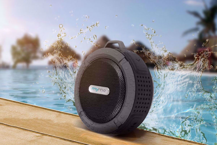 MyMe Bluetooth Water Resistant Portable Wireless Rechargeable Speaker