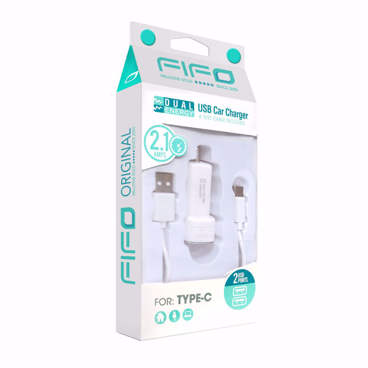 DUAL ENERGY USB CAR CHARGER FOR ALL TYPE-C PHONES AND DEVICES