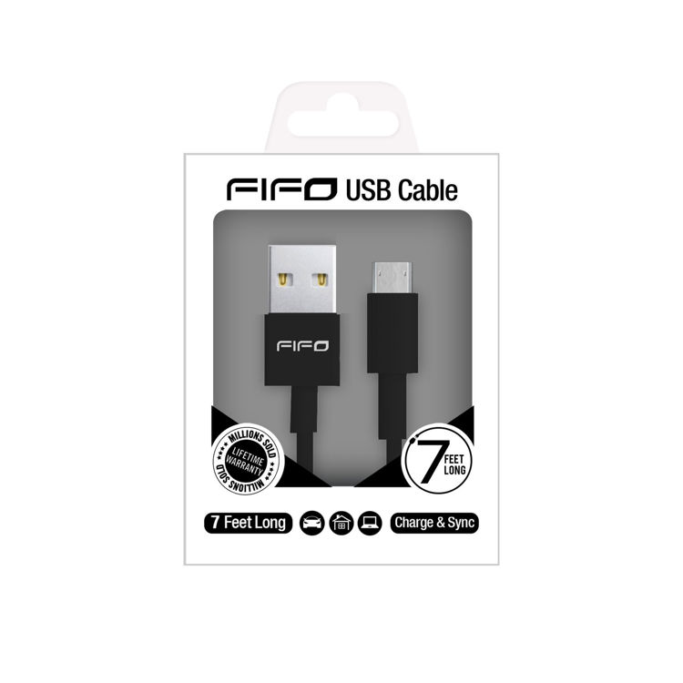 Micro USB to USB Cable Black