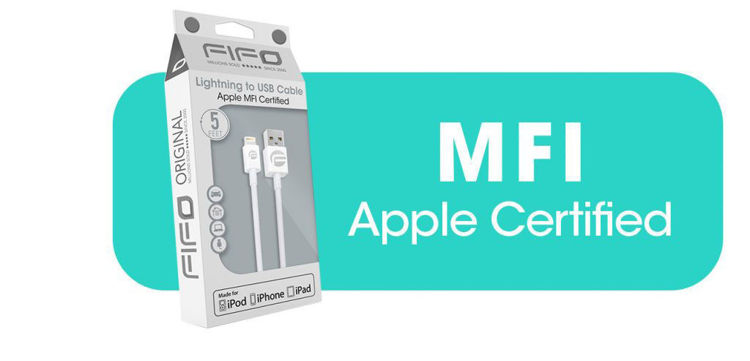 Apple MFI Certified Lighting to USC cable