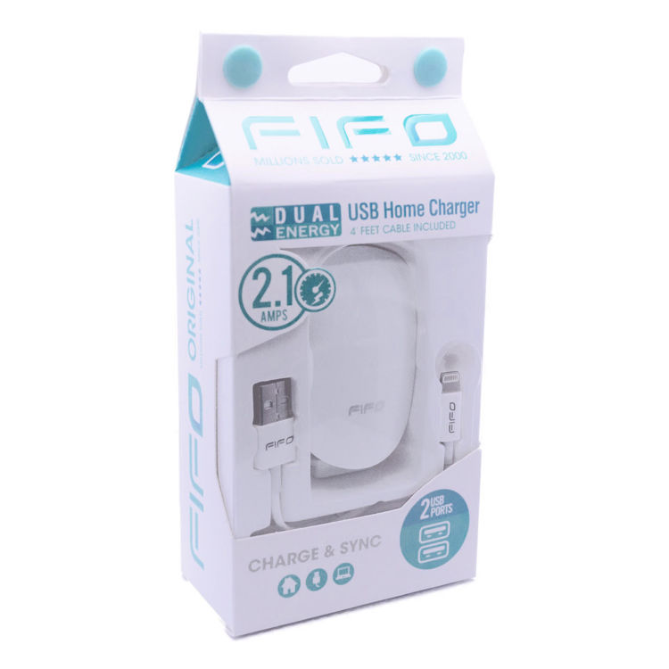 DUAL USB Home Charger for iPhone/Lightning